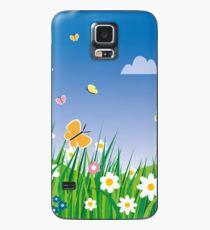 Blumenwiese Hülle & Klebefolie für Samsung Galaxy