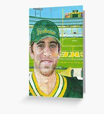 Aaron at Lambeau Greeting Card