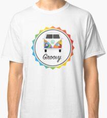 Groovy VW Camper split screen multi-coloured Classic T-Shirt