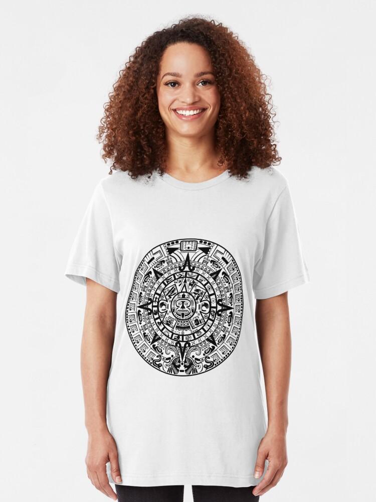Mayan Calendar Tank Top Shirt Maya Nation Aztec Calendar Tee