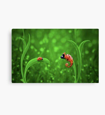 Ladybug and Chameleon Canvas Print
