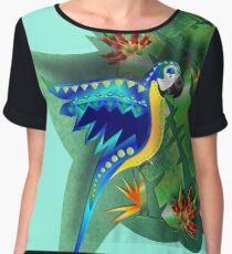 MACAW 139 FLOWER PATCH. Women's Chiffon Top