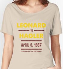 Leonard vs Hagler Women's Relaxed Fit T-Shirt