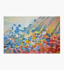 Pretty Pastel Abstract Oil Painting Photographic Print