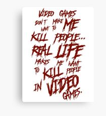 Videogames Violence Canvas Print