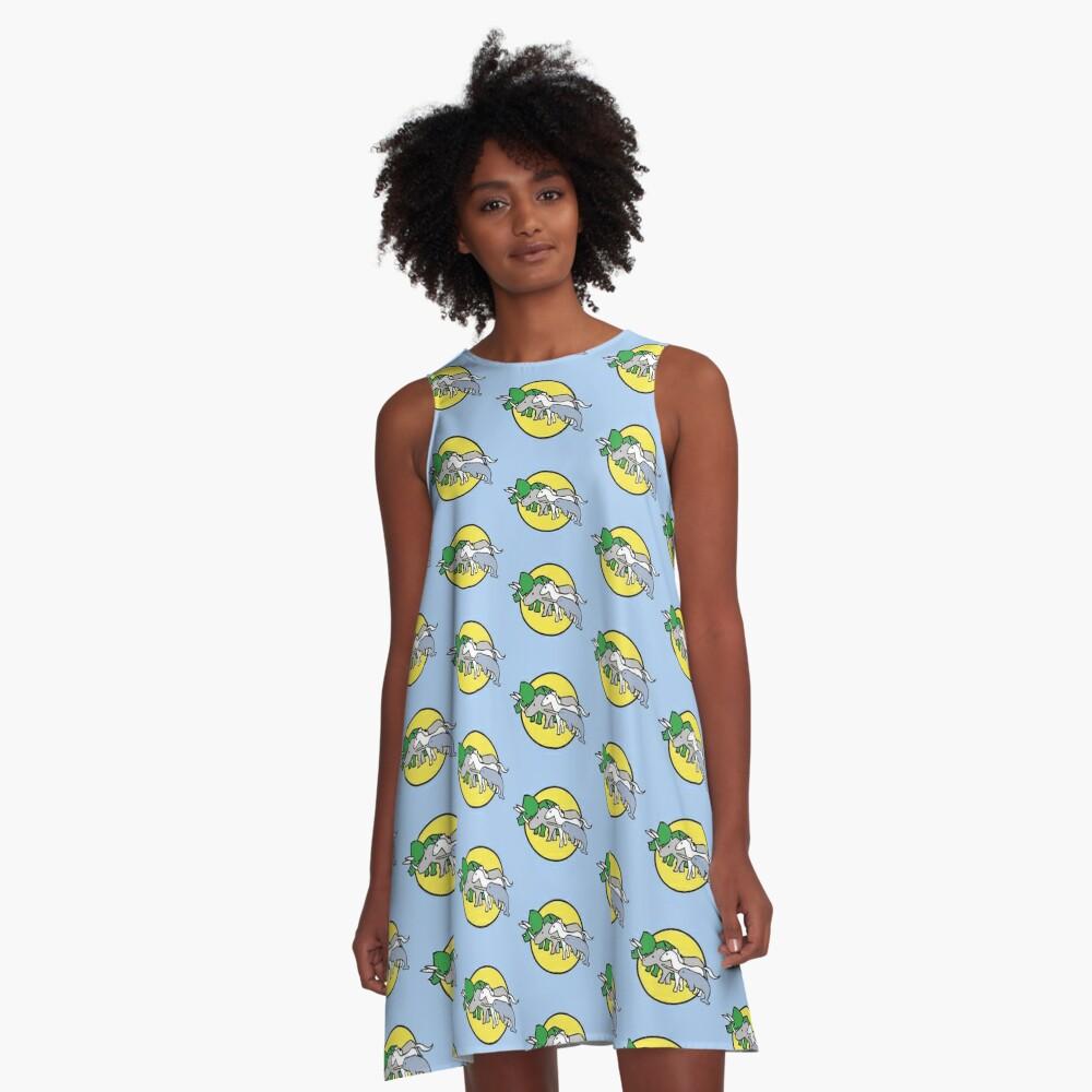 Gehörnte Kriegerfreunde A-Linien Kleid