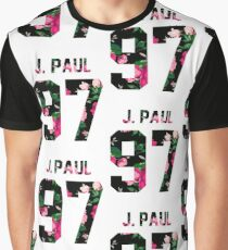 Jake Paul - Colorful Flowers Graphic T-Shirt