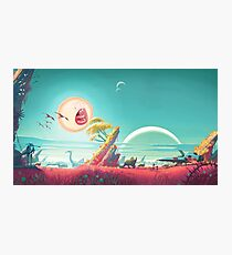 Screaming sun - Rick and Morty and No man's Sky crossover Photographic Print