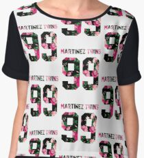 Martinez Twins - Colorful Flowers Women's Chiffon Top