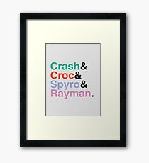 PLAYSTATION - Classic Heroes Framed Print