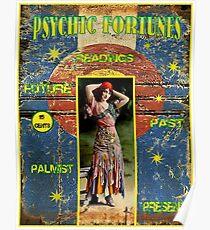 PSYCHIC FORTUNES: Vintage Fortune Teller Advertising Print Poster