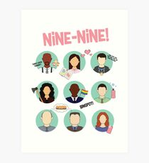 Brooklyn Nine-Nine Squad Art Print