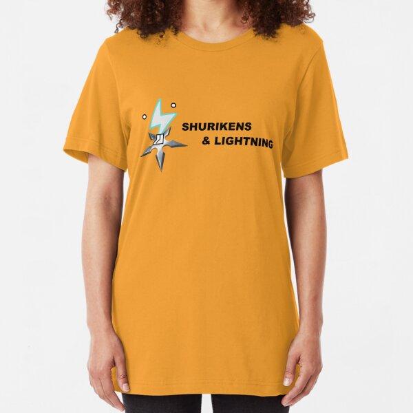 Shurikens and Lightning Slim Fit T-Shirt