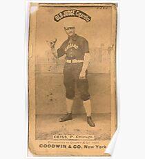 Benjamin K Edwards Collection Emil Geiss Chicago White Stockings baseball card portrait 002 Poster