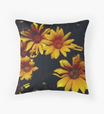 Flowers In Space Throw Pillow