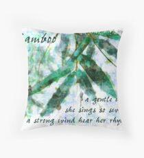 Bamboo In A Gentle Rain...gentle wind Throw Pillow