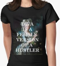 Diva is a female version of a hustler Women s Fitted T-Shirt 38d0c5bcd