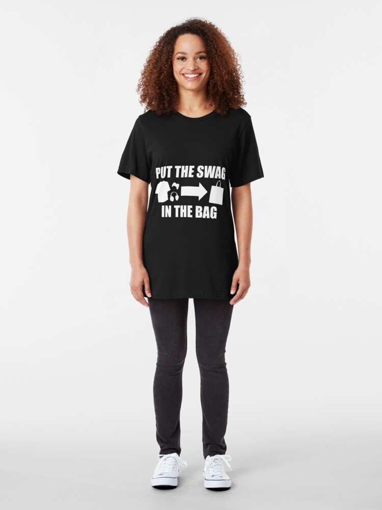 Alternate view of PUT THE SWAG IN THE BAG Slim Fit T-Shirt