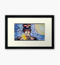Corto Maltese with a cigar Framed Print