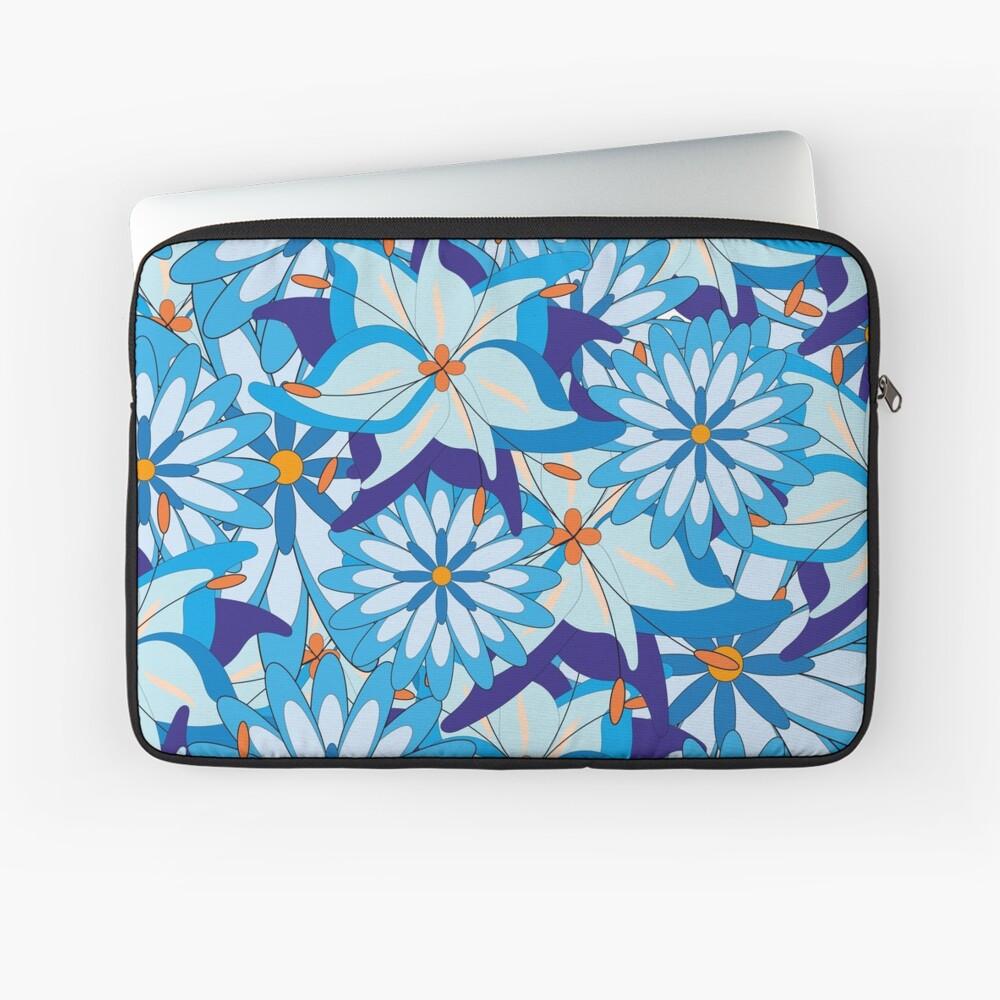 Blue Flower Power Laptoptasche