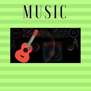 I love Music - Color Green Theme by simplyoj