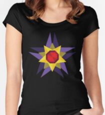 Geometric Water Type Pokemon Design - Starmie Women's Fitted Scoop T-Shirt