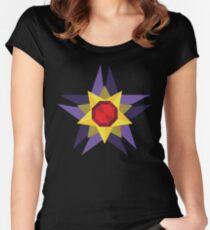 Geometric Water Type Pokemon Design - Starmie Women's Fitted Scoop T-Shirt