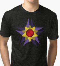 Geometric Water Type Pokemon Design - Starmie Tri-blend T-Shirt