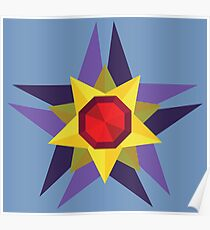 Geometric Water Type Pokemon Design - Starmie Poster