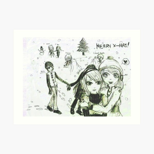 Warmth of love Art Print