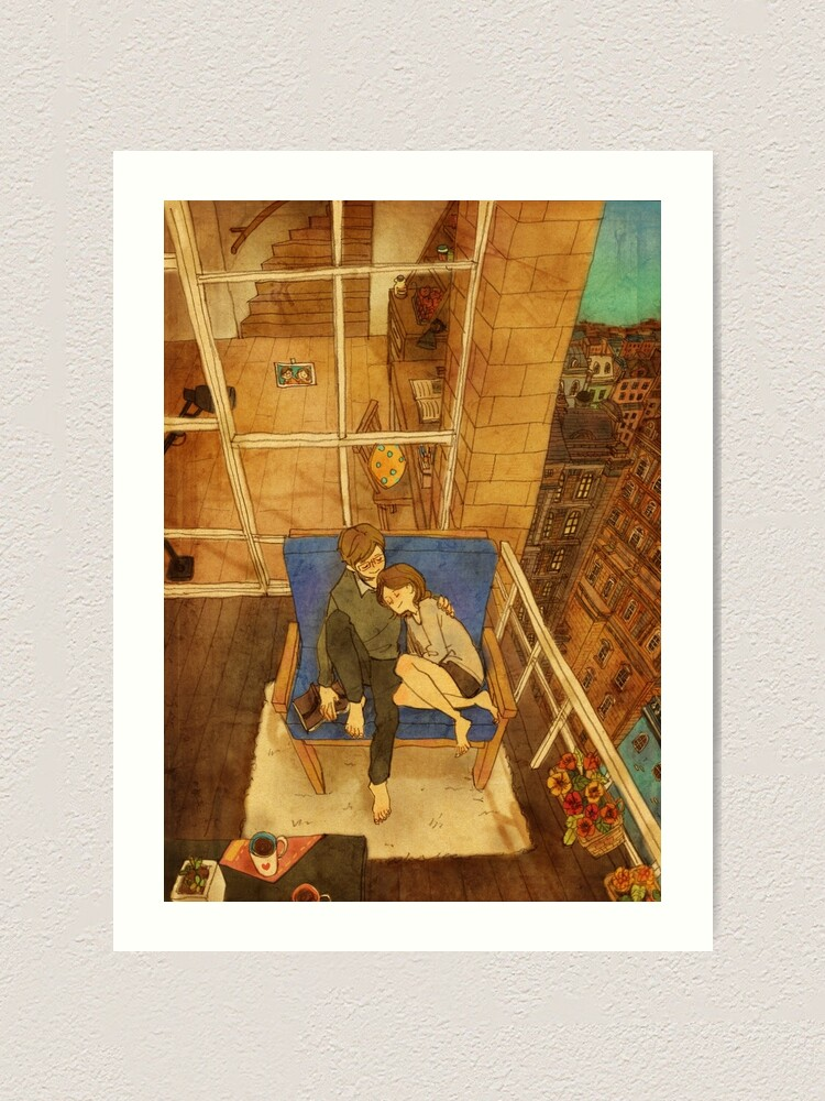 Alternate view of Cozy balcony Art Print