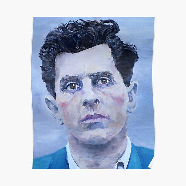 LUDWIG WITTGENSTEIN - oil portrait Poster