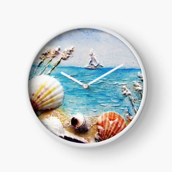 Sculptured Shell Art Clock