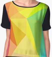Low Poly Rainbow Women's Chiffon Top
