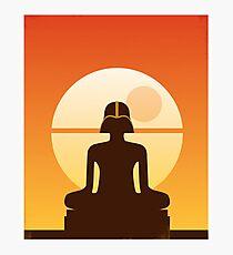 Darth Buddha Photographic Print