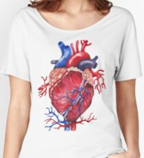 Watercolor heart Women's Relaxed Fit T-Shirt