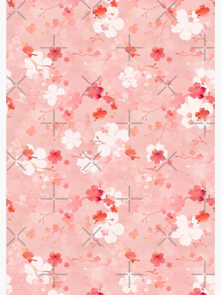 Pink Chinese cherry blossom by adenaJ