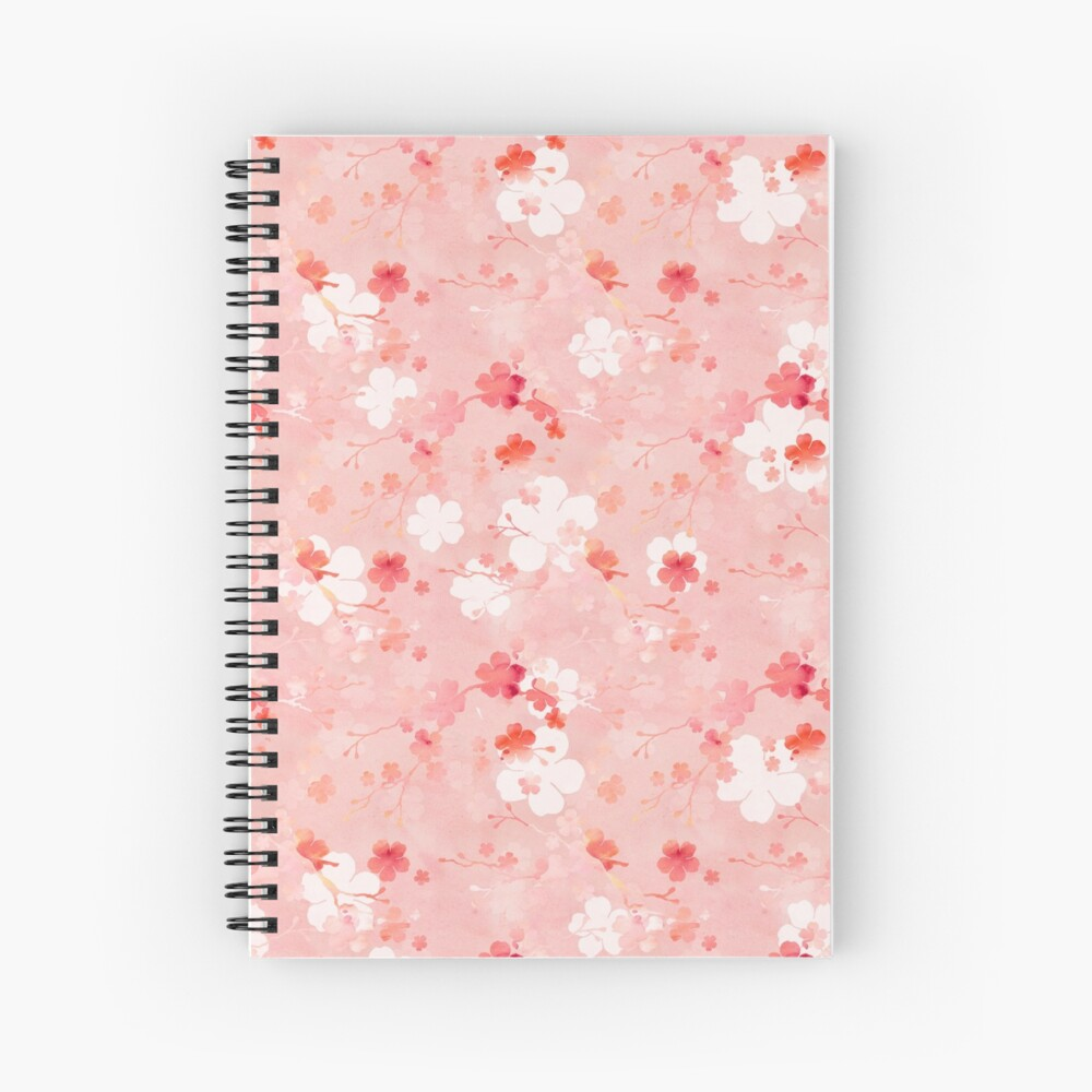 Pink Chinese cherry blossom Spiral Notebook
