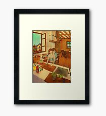 What's for lunch today? Framed Print