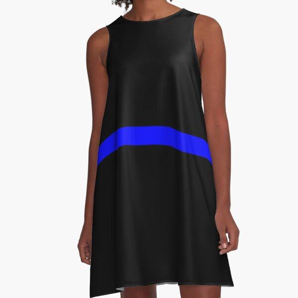 The Thin Blue Line A-Line Dress