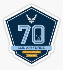 Air Force 70th Anniversary Emblem Sticker