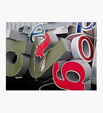 Alphabet Soup Photographic Print