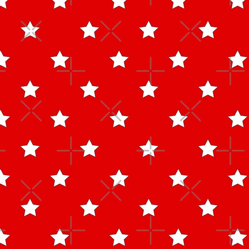"Red Stars Background ""Etoiles r..."