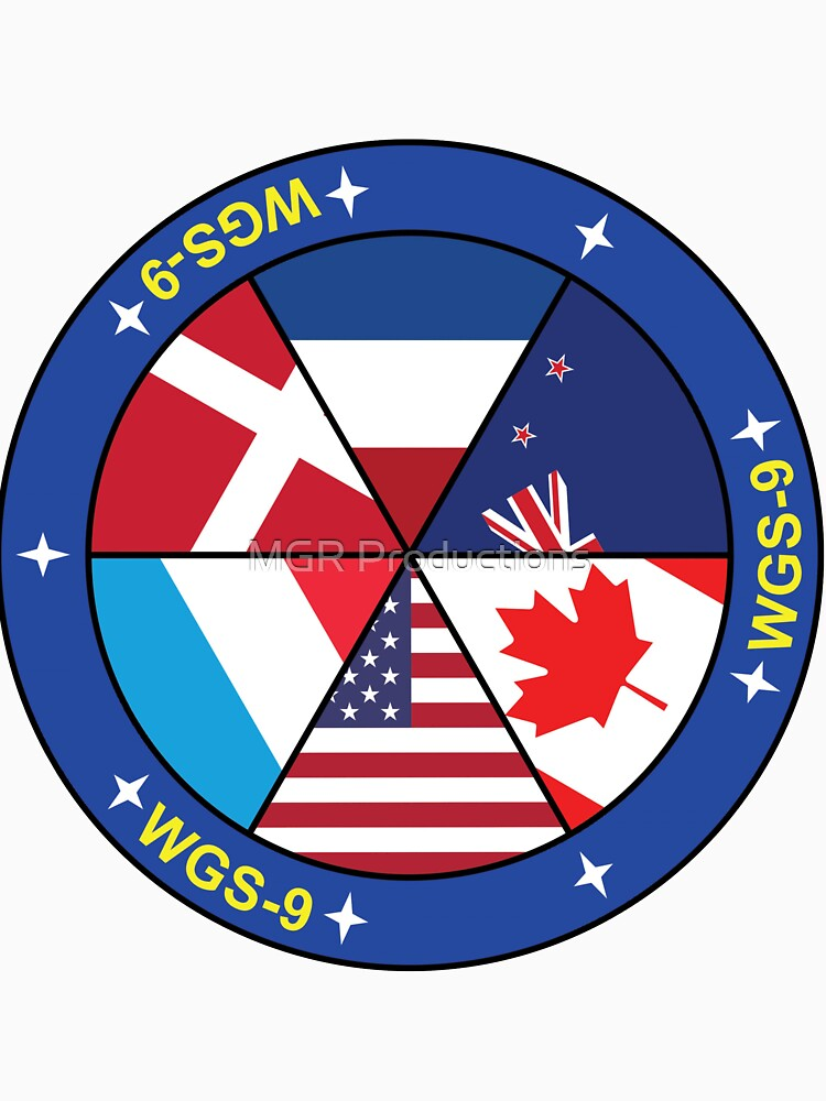 Wideband Global SATCOM system 9 (WGS-9) Logo by Quatrosales