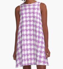 Cuadros lavanda A-Line Dress
