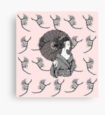 Vecta Geisha Canvas Print