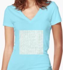 Abstract brush stroke pattern Women's Fitted V-Neck T-Shirt