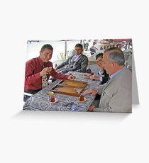 Tavla (Turkish Backgammon) Greeting Card