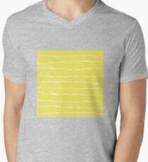 Abstract brush stroke pattern Men's V-Neck T-Shirt