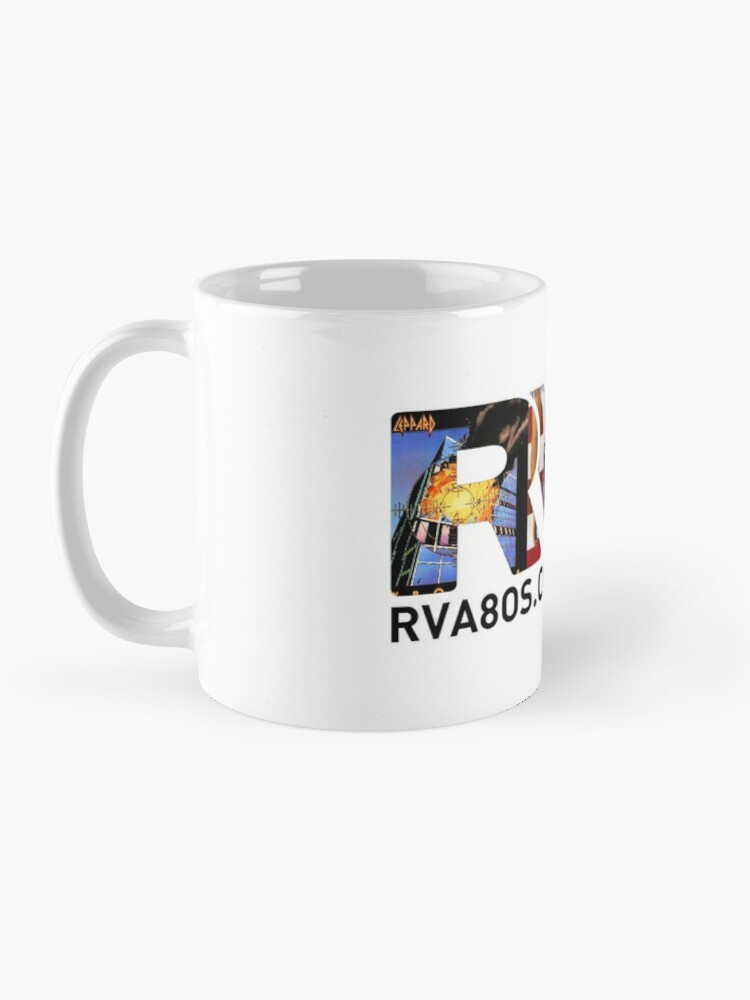 Alternate view of Official RVA logo for the 80s Child Radio Station Mug